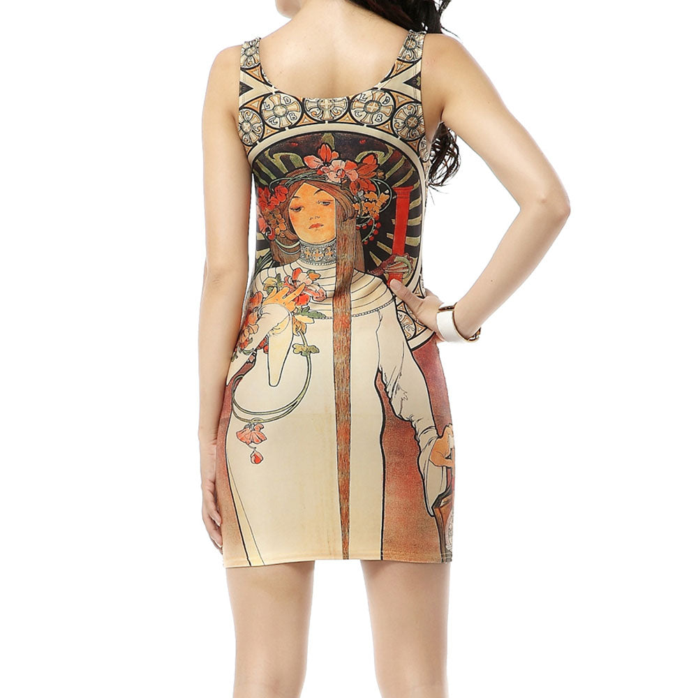 Art Nouveau Sleeveless Dress