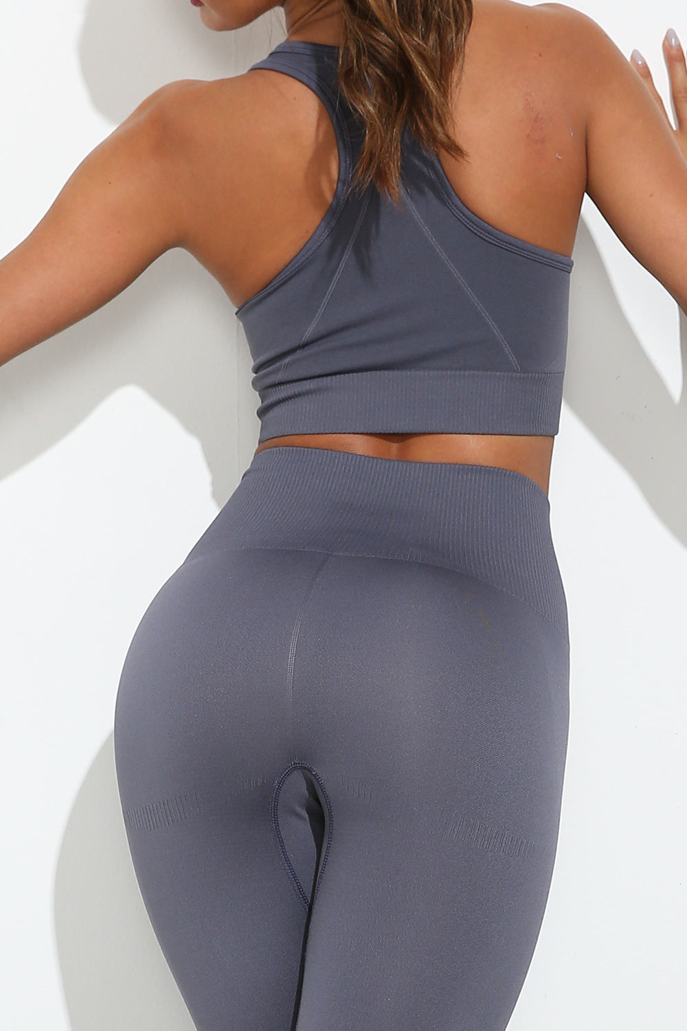 Solid Color Bra and Leggings Set