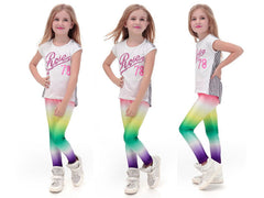 Rainbow Pop Leggings for Kids