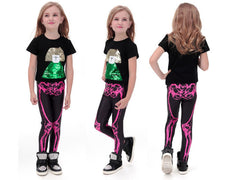 Skeleton Leggings for Kids