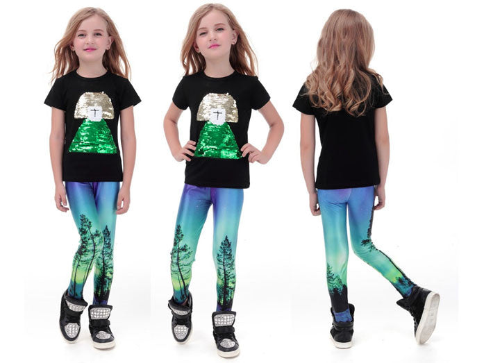 Enchanted Forest Leggings for Kids