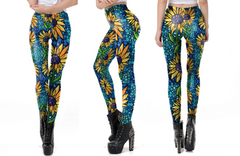 Mosaic Sunflower Leggings