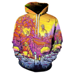Limited Edition Rick and Morty Hoodie 3D Printed
