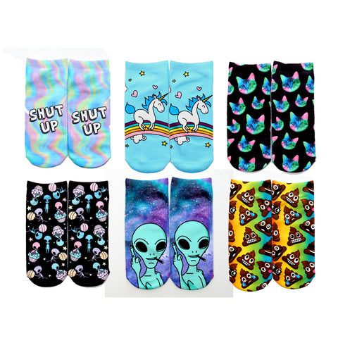 Give Me Space Printed Socks Set
