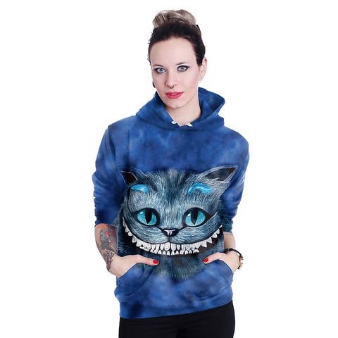 Cheshire Cat Hoodie 3D Printed