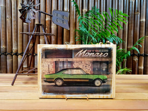Monaro GTS handmade wood mounted car print