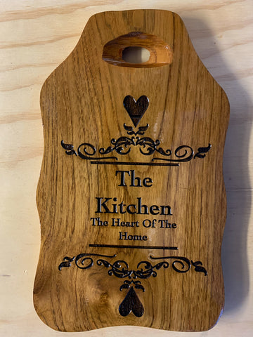 The Kitchen Heart of the home chopping board