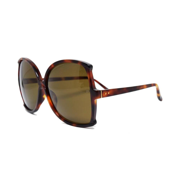 Linda Farrow 514 Oversized Sunglasses in Tortoise Shell - Optic Butler  - 2