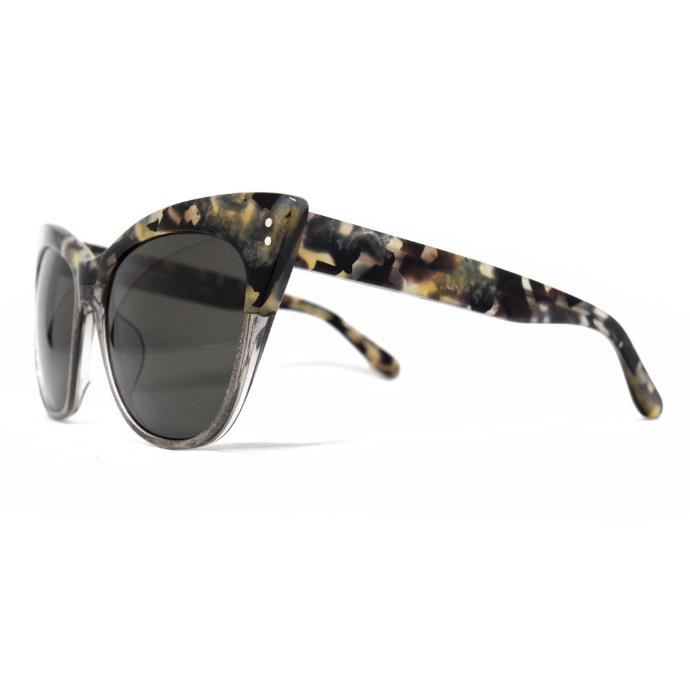 fc2e8b0a170 ... Linda Farrow Cat Eye Sunglasses in Marble and Grey Glitter - Optic  Butler - ...