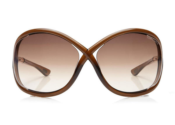 Tom Ford FT0009 Whitney Oversized Soft Round Sunglasses - Optic Butler  - 1