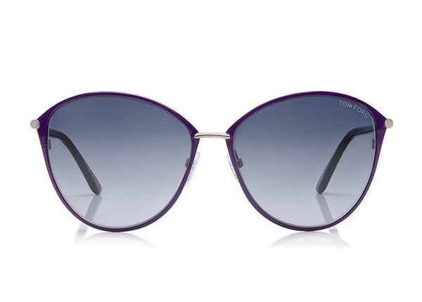 Tom Ford FT0320 PENELOPE VINTAGE ROUND SUNGLASSES - Optic Butler  - 1