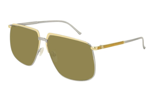 Gucci Square-frame Metal Glasses
