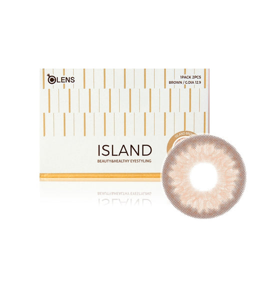 OLens Island Brown Monthly Lens