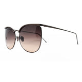 Linda Farrow 509 Browline Sunglasses In Nickel - Optic Butler  - 2