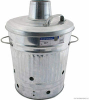 20L Incinerator Galvanised Metal Wood Fire Burner Garden Waste