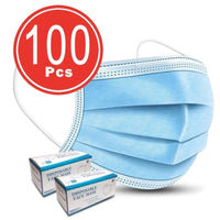 100 x Disposable Face Mask 3 PLY Disposable Face Mask (2 PACK OF 50'S WITH BOX)