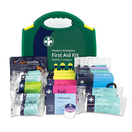 Workplace First Aid Kit - British Standard Compliant 135 Pieces