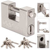 94MM Heavy Duty Armoured Padlock 10 Keys for Sites or Container - Warehouse