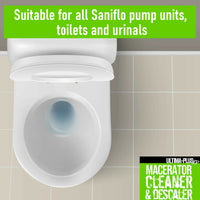 Ultima Macerator Toilet Descaler Cleaner Septic Compatible With Saniflo 10L