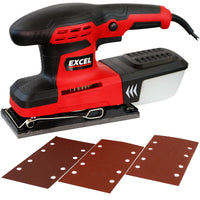 Excel 260W Palm Sander Orbital Sheet Sanding with Dust Box & Sanding Sheets