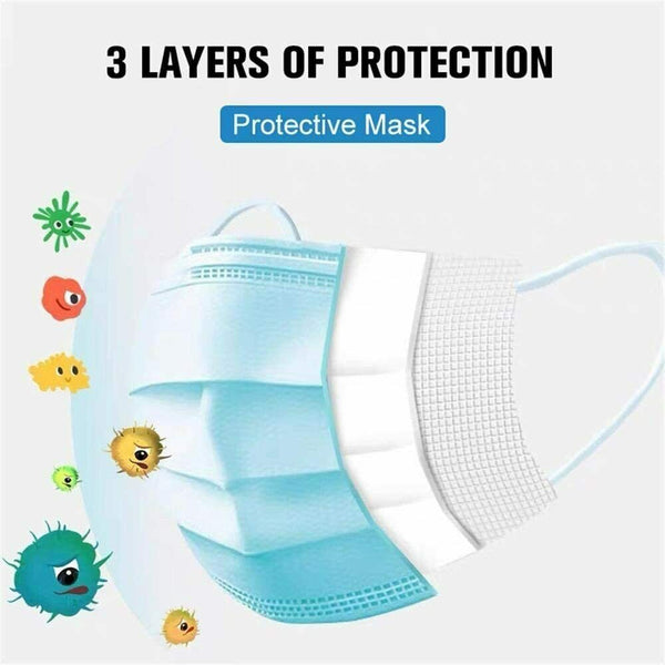 Mouth And Nose Protection Dusk Masks Pack of 50 Sealed Packed