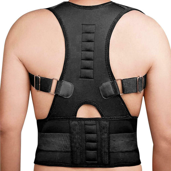 XLarge Neoprene Magnetic Posture Corrector Back Lumbar Shoulder Support Brace
