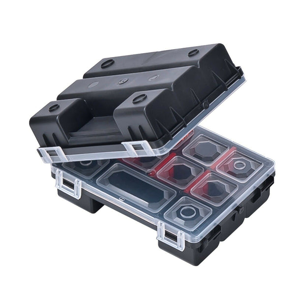 TANDEM TWIN DIY Compartment Storage Organiser Case Tool Box Adjustable Dividers