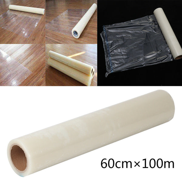 100M Cover Carpet Floor Protection Self Adhesive Protector Clear Roll Dust Film