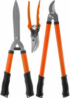3PC GARDEN SET PRUNING CUTTING SHEARS TREE BRANCH PRUNER ANVIL LOPPER GARDENING