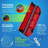 New Double Sided Magnetic Glass Wiper Cleaning Brush Sturdy Safe Window Cleaner