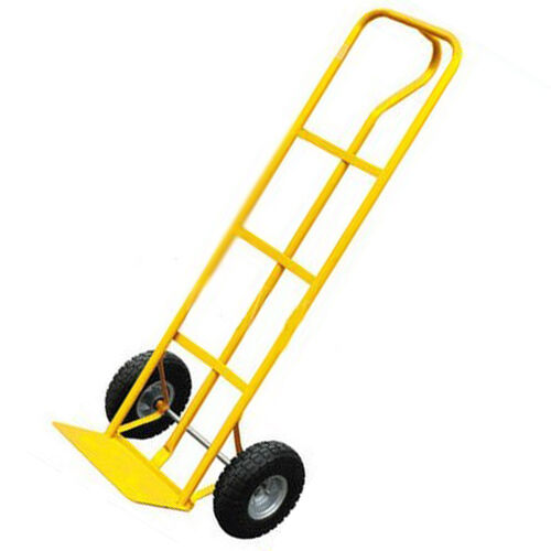 600LB Heavy Duty Sack truck P Handle Design With Pneumatic Tyre Wheels