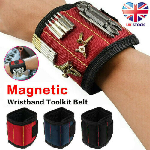 Magnetic Wrist Band Wristband Tool Tray Belt Wrist Magnetic Holding Helper UK