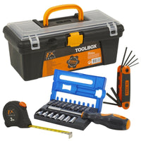 Tool Box With Free Tape Measure-Allen Keys-17 Piece Screwdriver Set