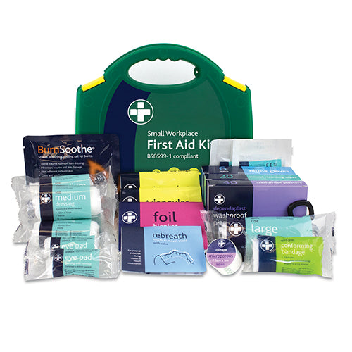Workplace First Aid Kit - British Standard Compliant 90 Pieces