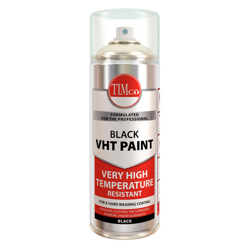 VHT Paint - Black 380ml Heat resistant to +650°C