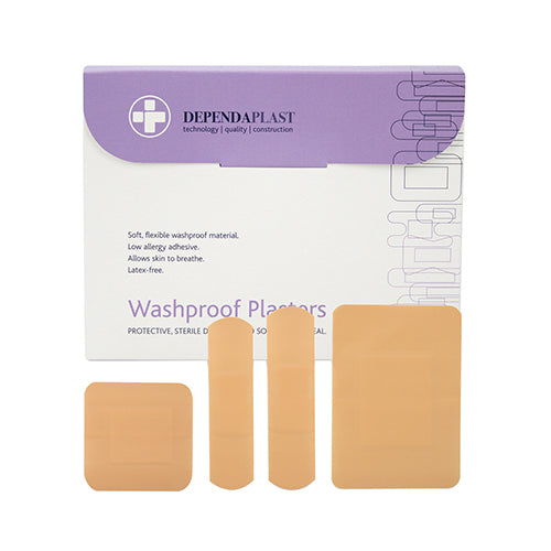 Washproof Plasters Assorted CE Marked Pack Of 100