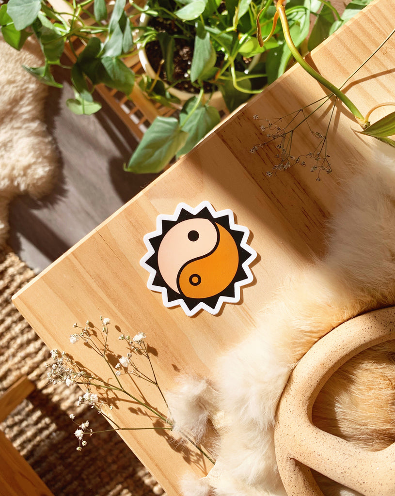 YIN YANG BURST STICKER