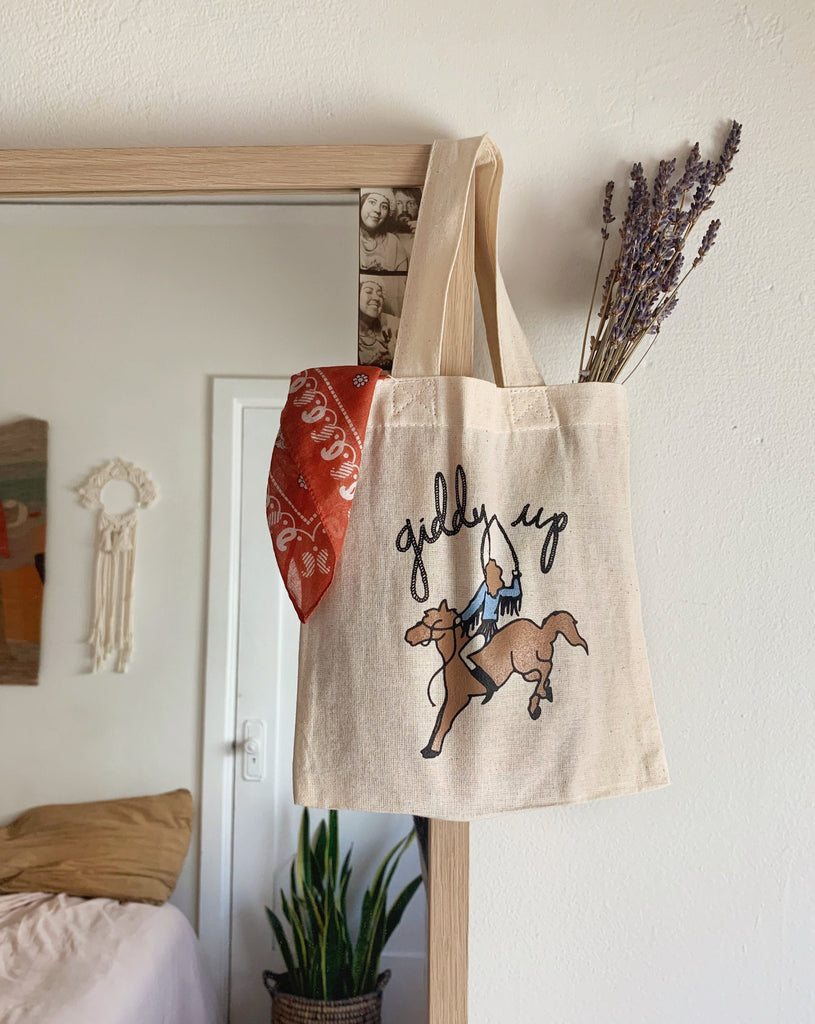 SAMPLE SALE - GIDDY UP BABY TOTE