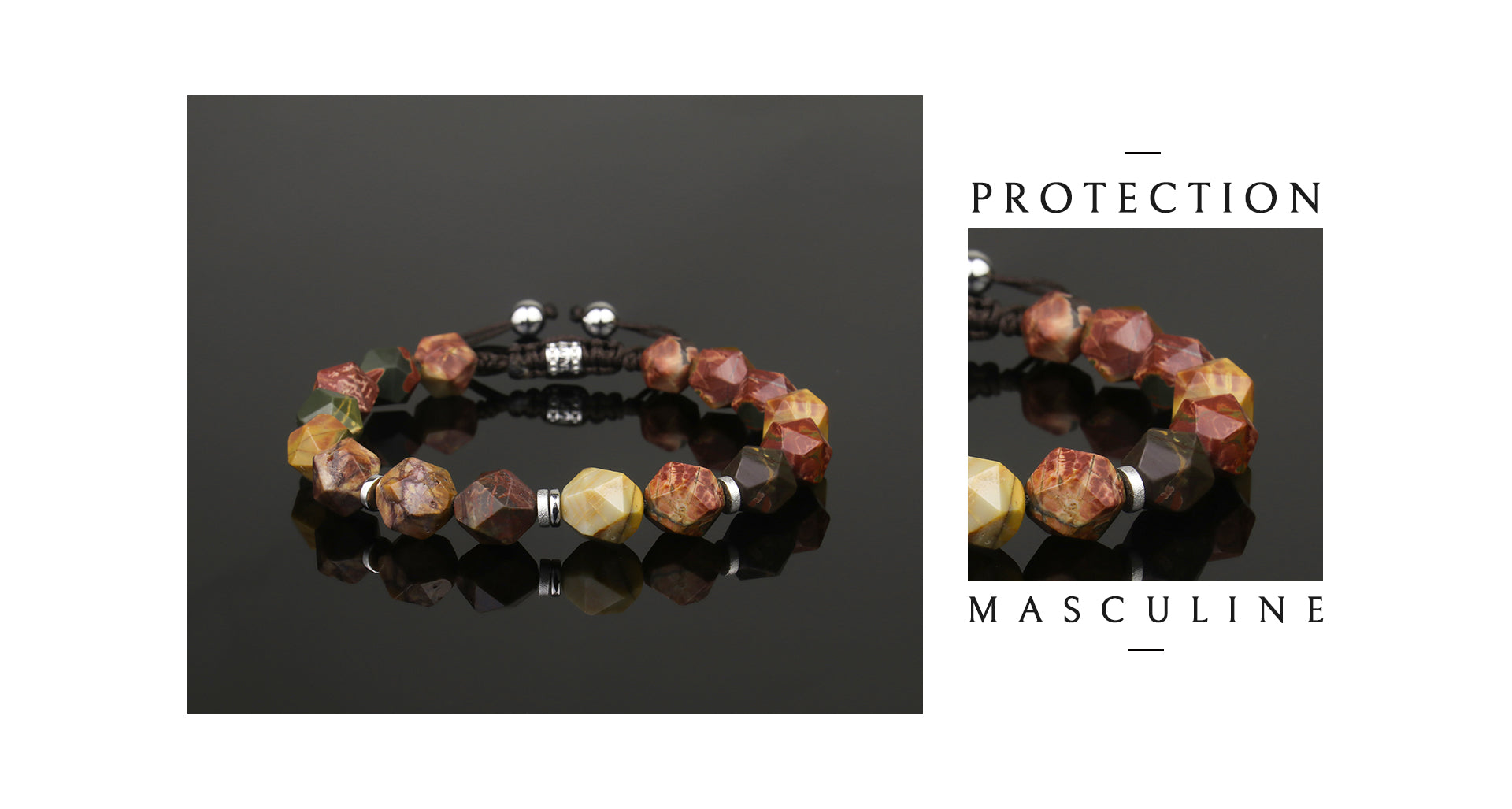 braided beaded picasso bracelet, offering strong healing powers and protection