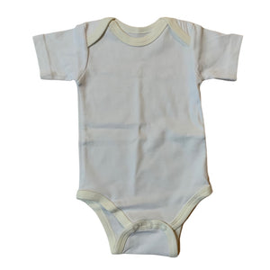White The Baby Box Co. Onesie, 0-6 Months