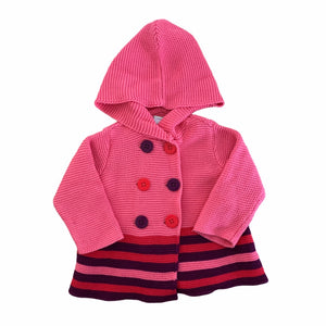 Pink First Impressions Hoodie, 6-9 Months