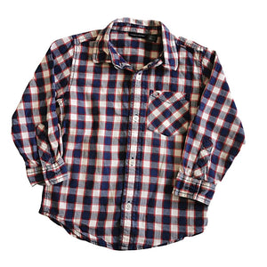 Multi Tommy Hilfiger Dress Shirt, 4 Years