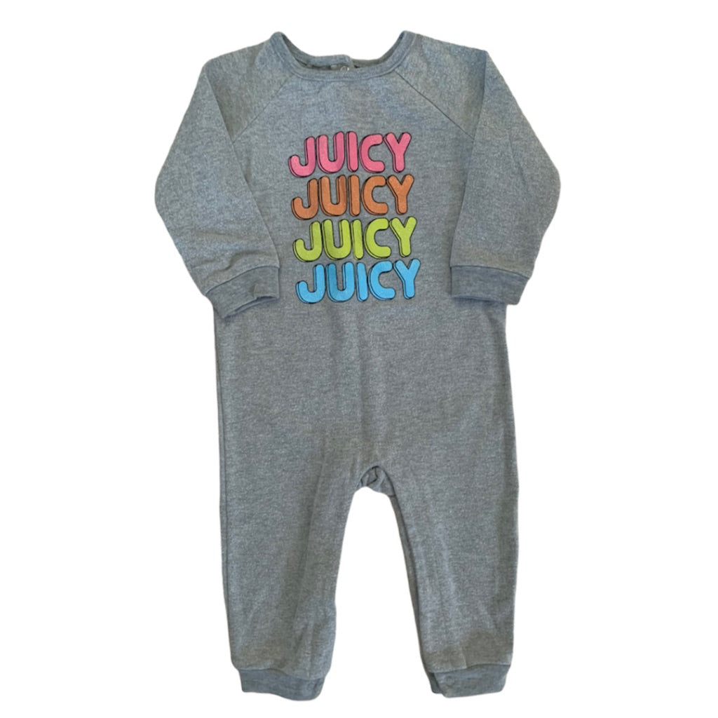 Grey  Juicy Couture Romper, 18 Months