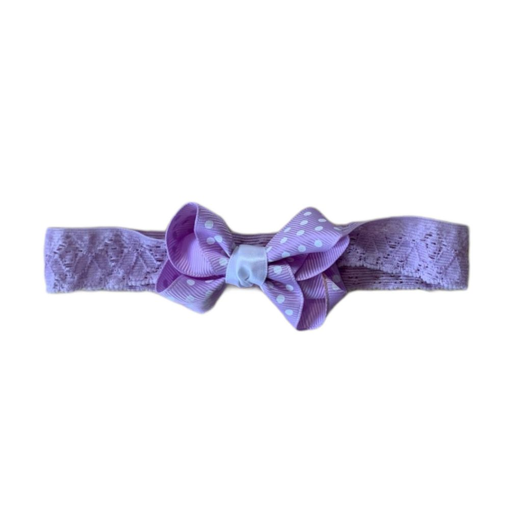 Light Purple Unknown Bow, 6-12 Months