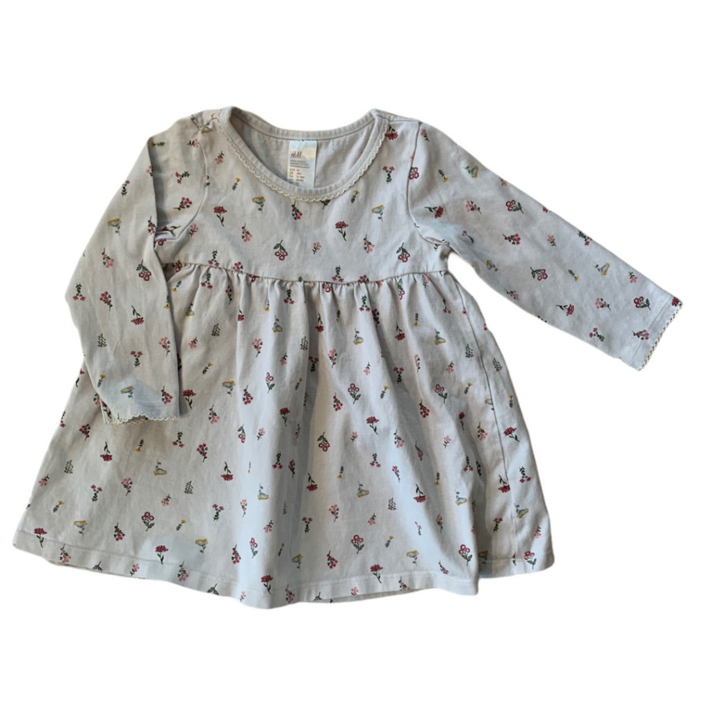 Cream H&M Dress, 12-18 Months