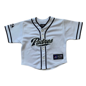 White  Majestic  San Diego Padres Jersey, 12 Months