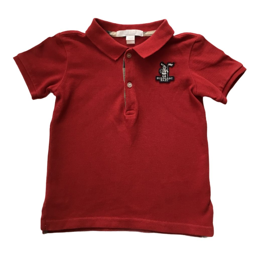 Red Burberry T-Shirt, 2 Years