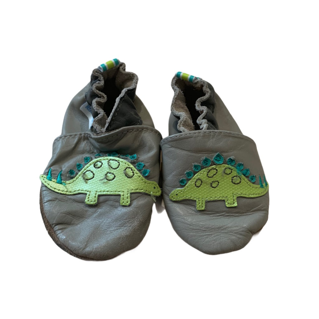 Grey Robeez Shoes, 6-12 Months