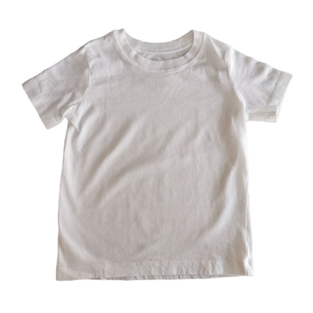 White Oshkosh T-Shirt, 4 Years