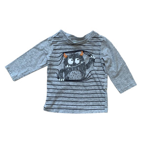 Grey First Impressions Shirt, 6-9 Months